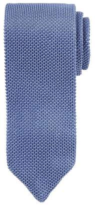 Banana Republic Solid Silk Knit Pointed Tie