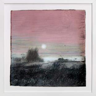 Moon over Henry's Lake Art Print