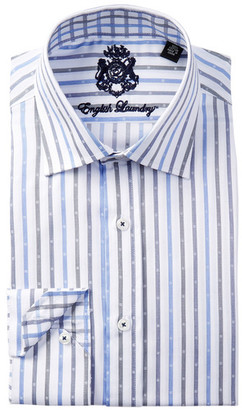 English Laundry Striped Trim Fit Dress Shirt $98.50 thestylecure.com