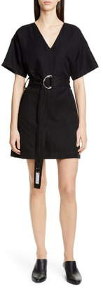 Proenza Schouler White Label PSWL Belted A-Line Minidress
