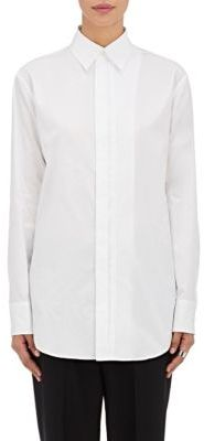 Yohji Yamamoto Women's Doodle-Print Cotton Shirt-WHITE $720 thestylecure.com