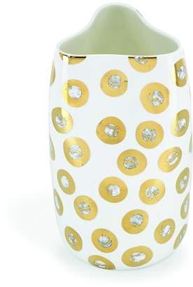 Michael Wainwright Tempio Luna Gold Pinched Vase