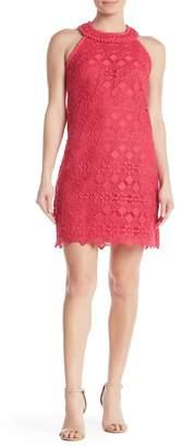 Trina Turk Deveny Crochet Knit Sleeveless Dress