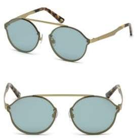 Web Round Frame Metal Sunglasses