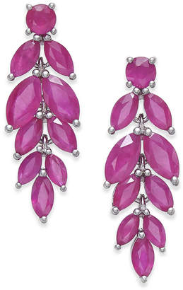 Macy's Beautiful Ruby Colored Earrings