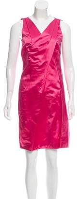 Prada Sleeveless Silk Sheath Dress