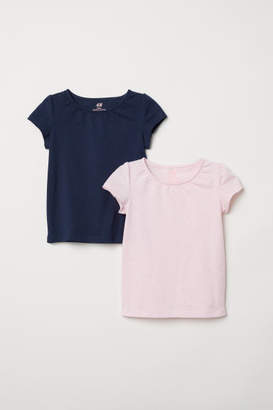 H&M 2-pack Jersey Tops - Pink
