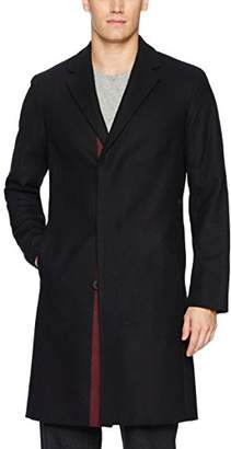 Theory Men's Wool Over Coat with Stripe