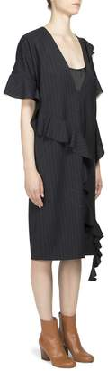 Maison Margiela Women's Asymmetrical Ruffle Dress