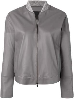 Fabiana Filippi leather bomber jacket