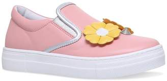 Fendi Flower Low-Top Sneakers