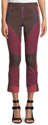 Isabel Marant Happy Colorblocked Skinny Leather Pants with Zip-Fly