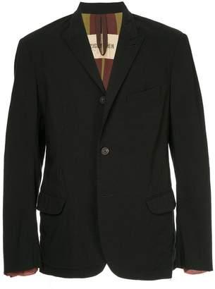 Ziggy Chen distressed contrast collar jacket