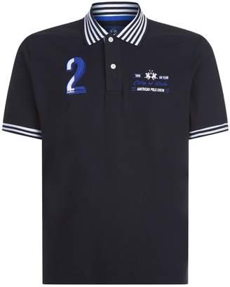 La Martina Stripe Collar Polo Shirt