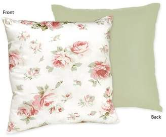 JoJo Designs Sweet Riley's Roses Cotton Throw Pillow Sweet