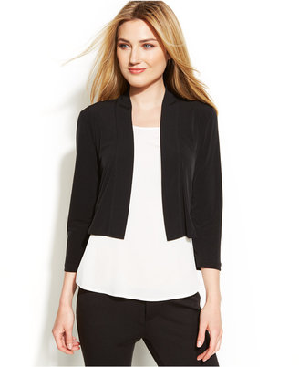 Calvin Klein Three-Quarter-Sleeve Open-Front Shrug $39.98 thestylecure.com
