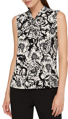 Tommy Hilfiger Floral Knot Neck Top
