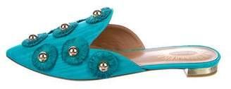 Aquazzura Embellished Pointed-Toe Mules