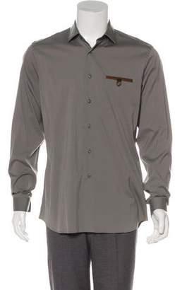 Prada Woven Dress Shirt