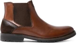 Blondo Vinn Faux Fur-Lined Leather Chelsea Boots