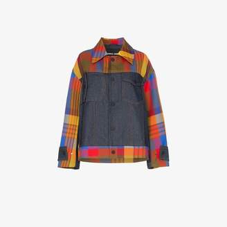 Angel Chen panelled check jacket