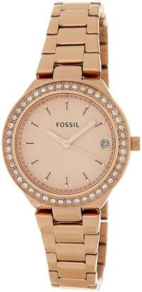 Fossil Women's Blane Crystal Watch & Bracelet Set, 31mm