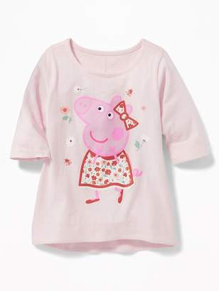 Old Navy Peppa Pig Jersey Tunic for Toddler Girls