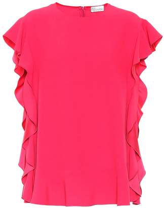 RED Valentino Ruffled crepe top