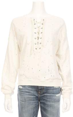 NSF Terry Destroyed Lace Up Sweatshirt