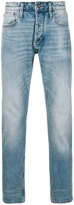 Denham Jeans heavy washed mid rise jeans