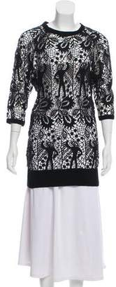 Isabel Marant Guipure Lace Long Sleeve Tunic
