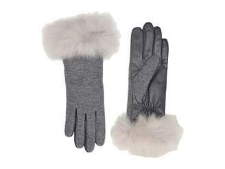 UGG Italian Wool Blend Tech Gloves with Long Pile Sheepskin Trim