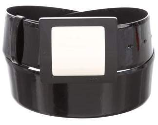 Chanel Patent Leather Logo Belt