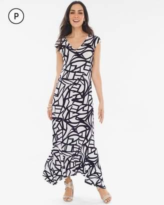 Travelers Classic Petite Printed V-Neck Dress