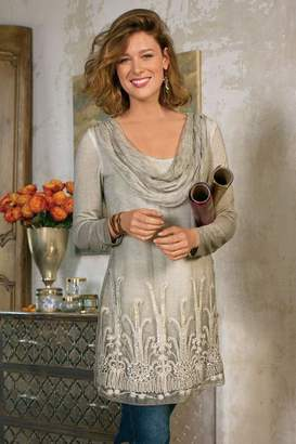 Soft Surroundings Silk Beaux Arts Tunic & Cami