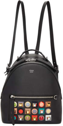 Fendi Black Mini Rainbow Zaino Backpack