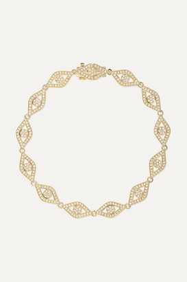 Sydney Evan Evil Eye 14-karat Gold Diamond Bracelet