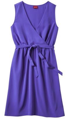 Merona Women's V-Neck Sleeveless Wrap Dress - Assorted Colors