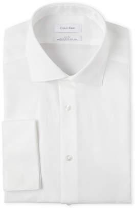 Calvin Klein Slim Fit French Cuff Dress Shirt