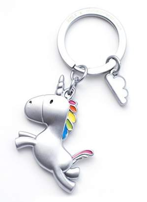 RMEX Flying Unicorn Keychain with Cloud Rainbow Key holder Fairytales Magical Matte finish