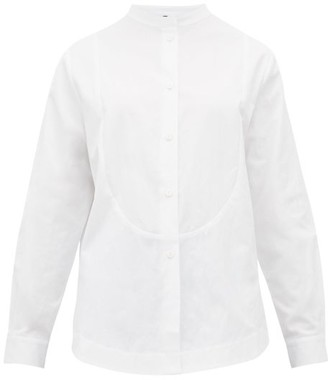 Sara Lanzi Bib Panel Cotton Canvas Shirt - Womens - White