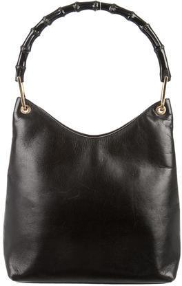 GucciGucci Leather Bamboo Shoulder Bag