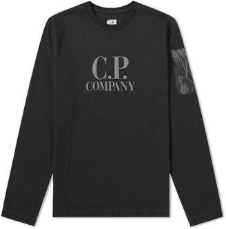 C.P. Company Undersixteen Long Sleeve Lens Arm Print Logo Tee