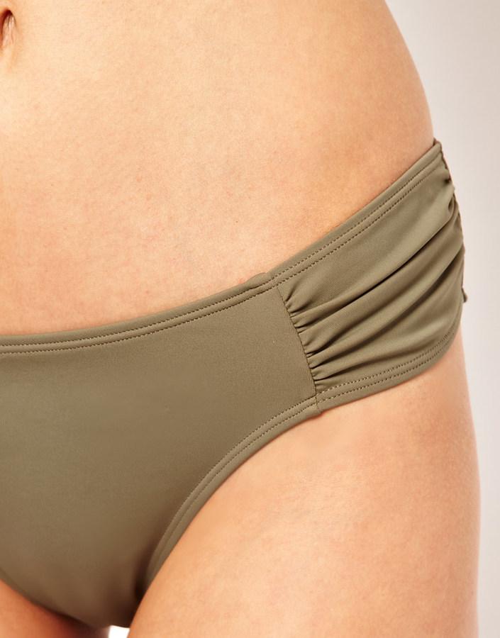 O Beach Hipster Ruched Bikini Bottom
