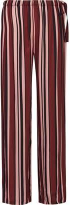 Reiss Tilda - Striped Satin Pyjama Bottoms in Berry