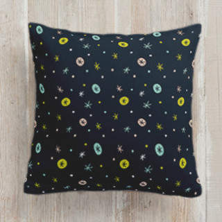 Snow falling Self-Launch Square Pillows