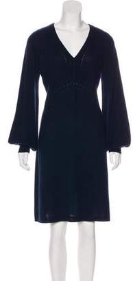 Magaschoni Long Sleeve Knee-Length Dress