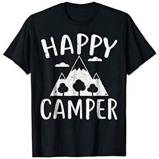 Camper Happy T-Shirt T-Shirt Funny Camping Gift Idea Shirt