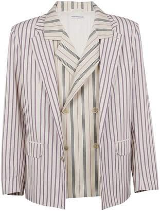 Gosha Rubchinskiy Double Layer Striped Blazer