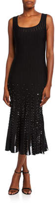 Zac Posen Square-Neck Knit Cocktail Dress